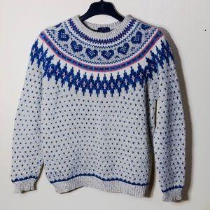 🔵 The Woolrich Woman Wool Blend Vintage Sweater